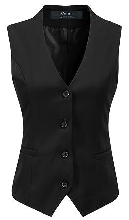 Vocni Women S Fully Lined 4 Button V Neck Economy Dressy Suit Vest