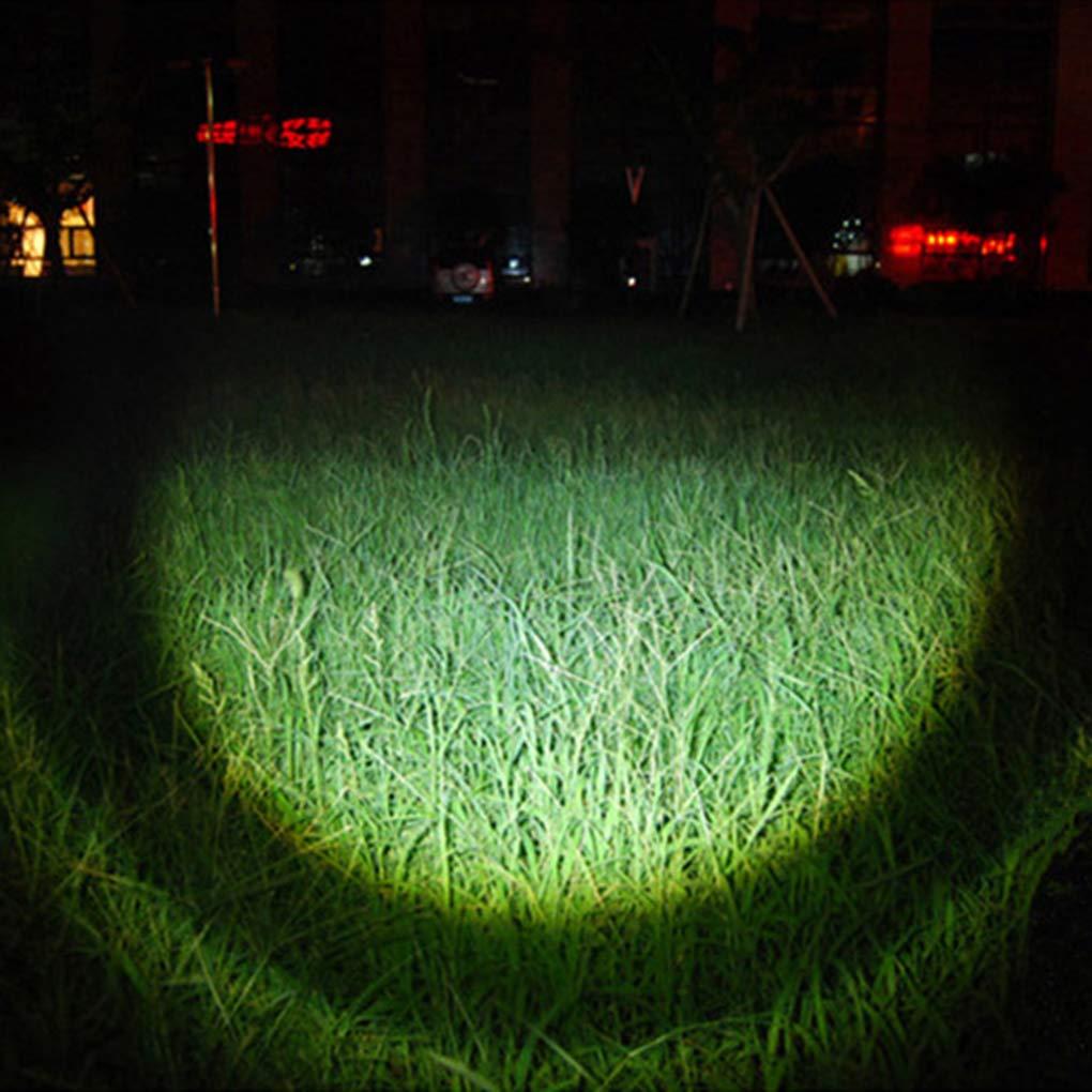 Morza Excursi/ón Que acampa Linterna Zoom 3 Iluminaci/ón Modo Brillante antorcha de LED al Aire Libre de la Linterna Recargable
