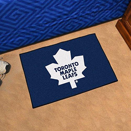 (Fanmats Toronto Maple Leafs Sports Team Logo Indoor Outdoor Nylon Carpet Vinyl Backing Starter Mat)