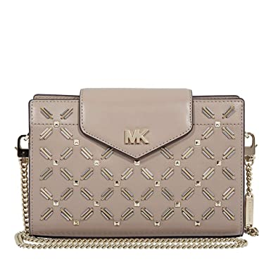 b9f21bd97a6b Michael Kors Medium Floral Leather Crossbody Clutch- Truffle ...