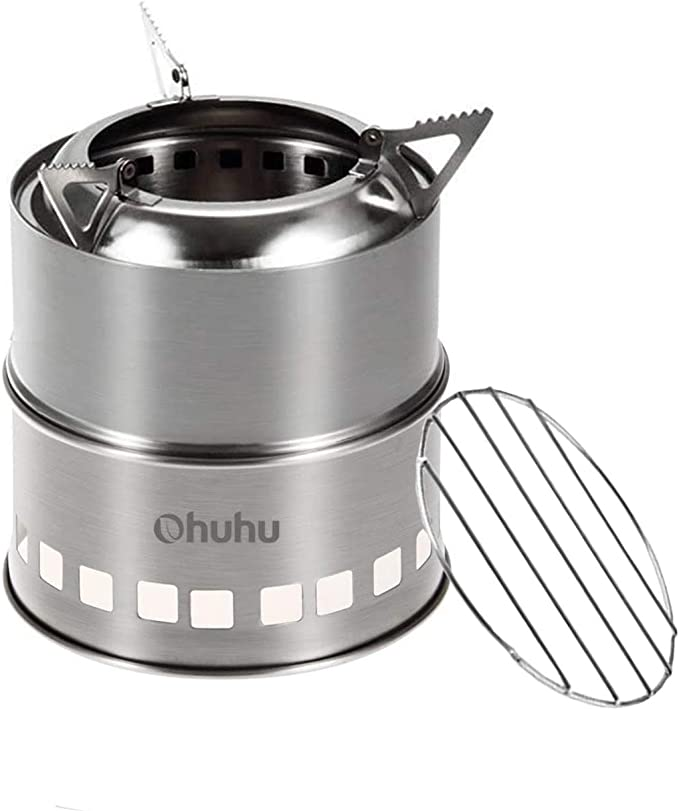 Ohuhu Stainless Steel Backpacking Stove