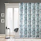 """Madison Park MP70-2647 Capris Microfiber Shower Curtain 72x72"""" Blue,72x72"""""""