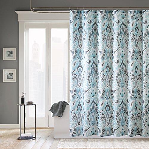 Madison Park MP70-2647 Capris Microfiber Shower Curtain 72x72