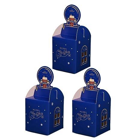 Wa 3X Caja de Dulces Caja de Papel de Regalo para Navidad Bonitas Cajas