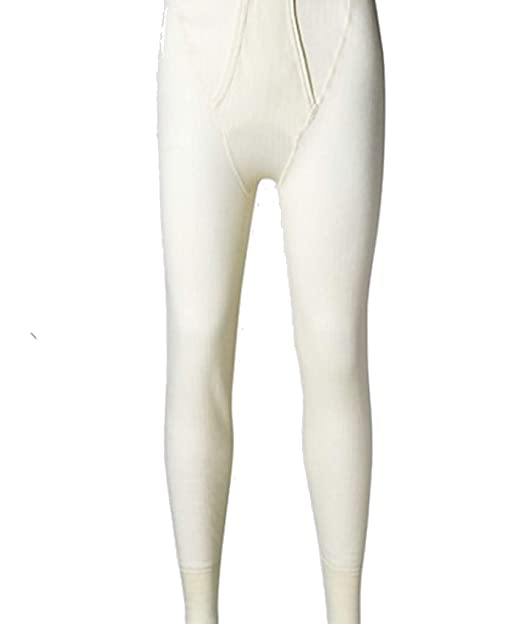 a90e3d423b29 Marks & Spencer Mens Ribbed Thermal Long Pants with Merino Wool 0.6 Tog  Waist (Cream