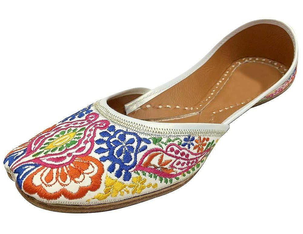 Step n Style Indian Punjabi Juttis Women Ladies Boho Mojari Khussa Shoes Saree Ethnic Shoes B07BGZK6W7 9 B(M) US