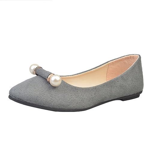 Longra Donna Scarpe comode scarpe comode scarpe nude (EU Size:38, Nero)