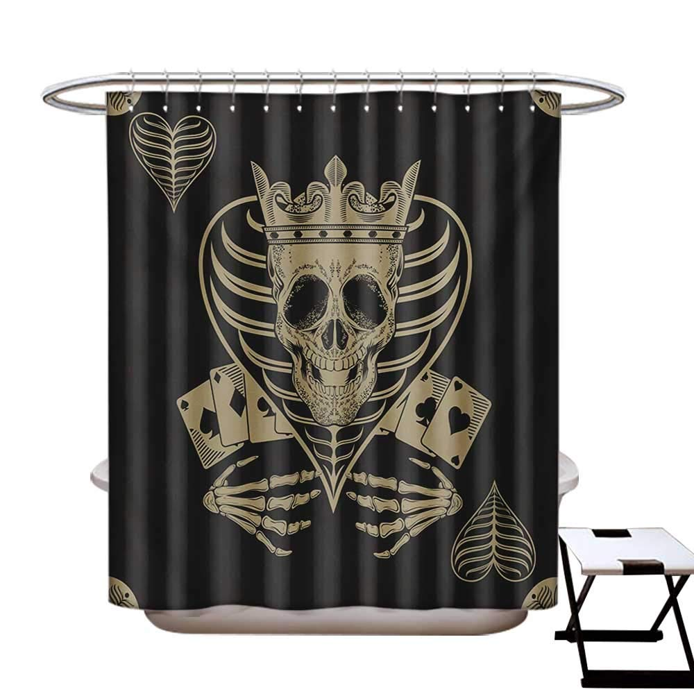 Amazon.com: Spooky - Cortina de ducha con diseño de calavera ...