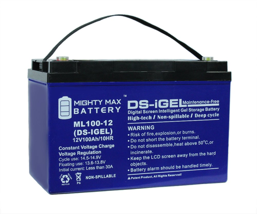 Mighty Max Battery 12v 100ah Gel Battery Replacement For