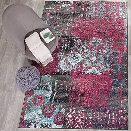 Cheap Safavieh Monaco Collection MNC210D Modern Abstract Distressed Non-Shedding Stain Resistant Living Room Bedroom Area Rug living room rug for sale