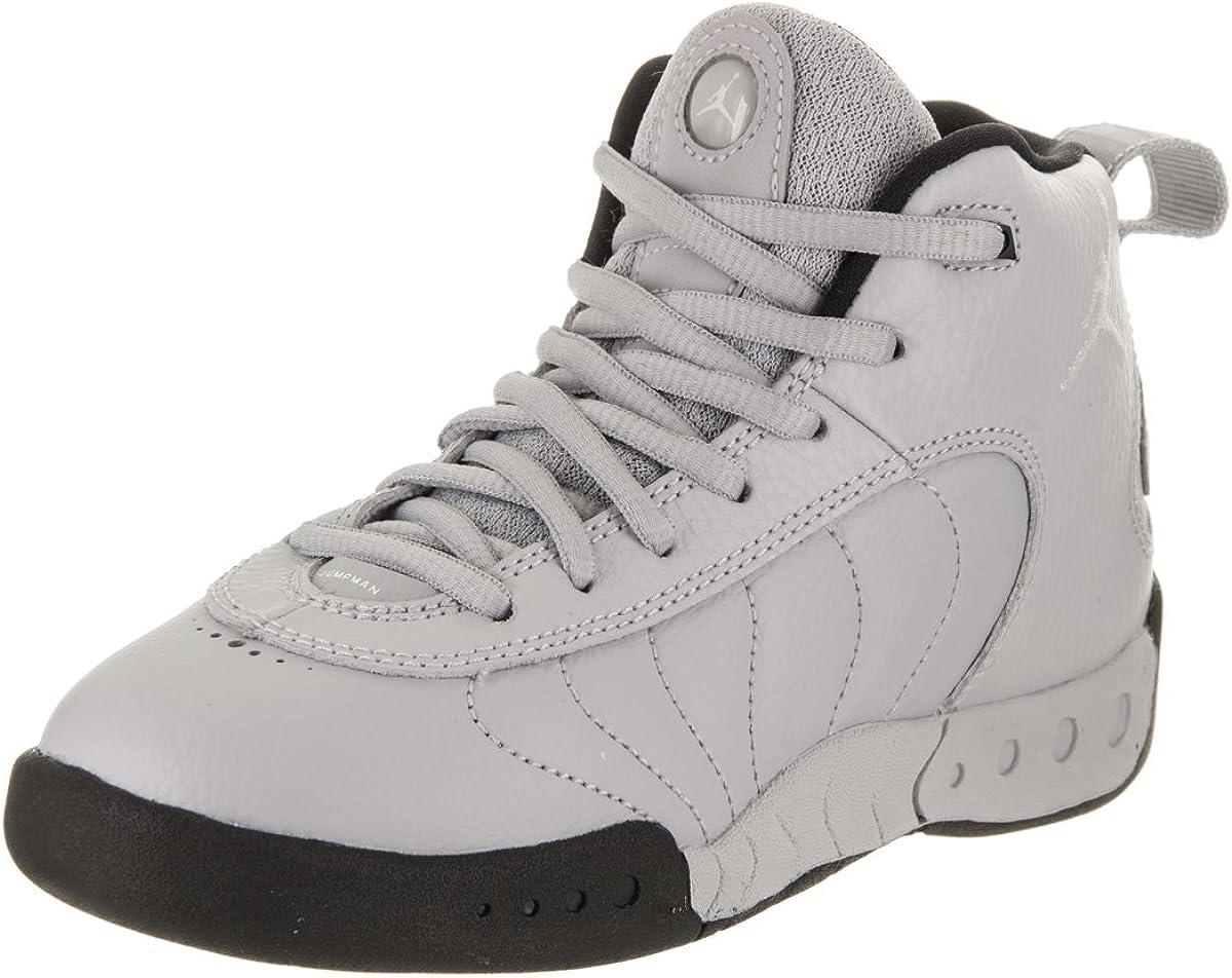 Jordan Jumpman Pro BP Little Kids Shoes Wolf Grey White Black 909419-004
