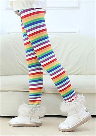 Ugitopi Bambini Ragazze Leggings in Foderati Pantaloni Invernali Lunghi Spessi Stretch Pantalone (White snowflake,150