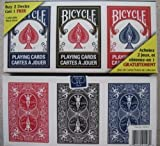 Bicycle 3 Deck Lot of Playing Cards Red, Black & Blue