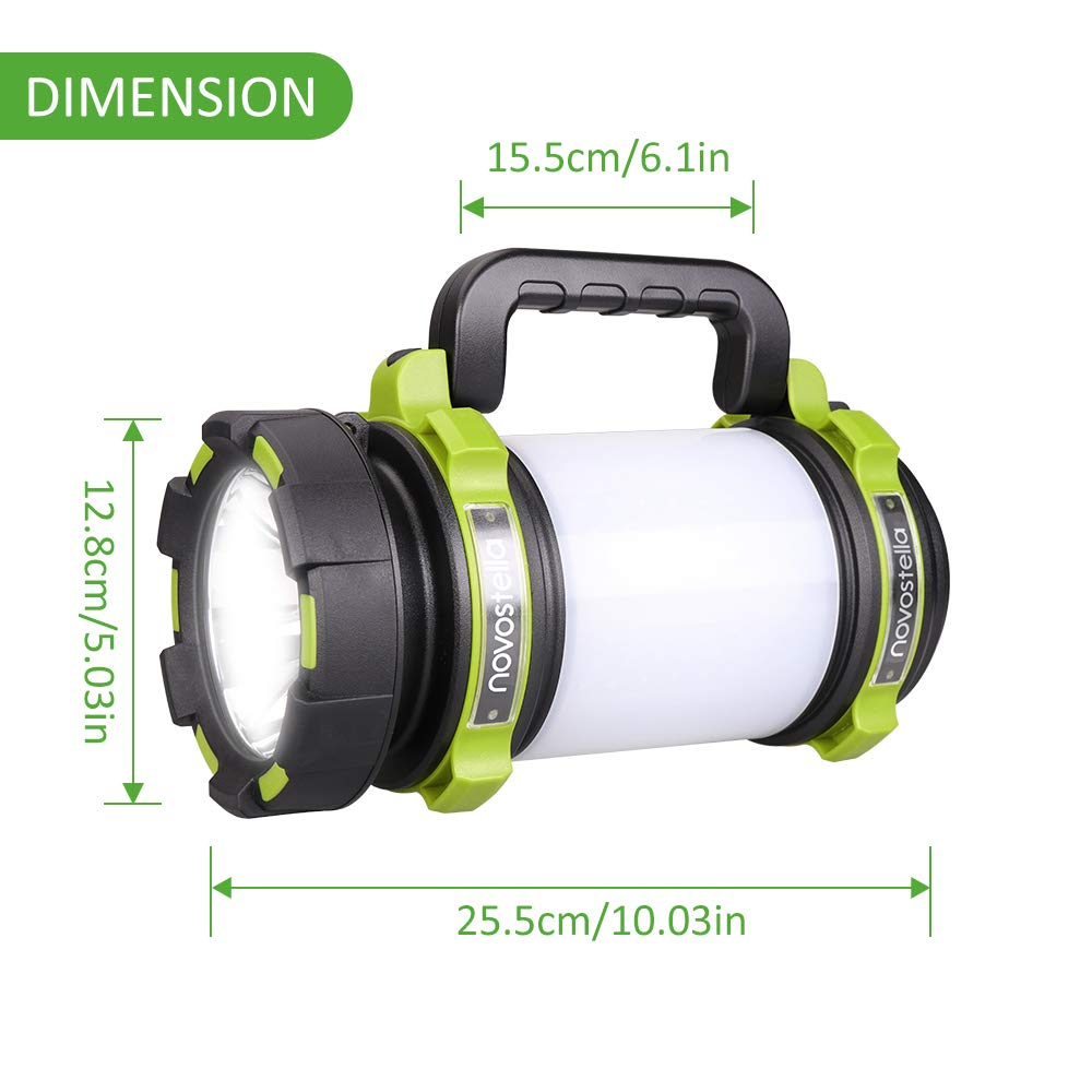 Novostella Rechargeable 1000LM CREE LED Spotlight, Multi Function Outdoor Camping Lantern Flashlight Hurricane Lantern 4000mAh Waterproof LED Searchlight with USB Cable for Hiking Fishing Emergency by Ustellar (Image #8)