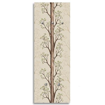 Feeby, arte de la pared, Deco Panel con perchero (5 ganchos ...