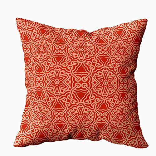 - Musesh Decorative Pillow Covers, Abstract Geometric Pattern Background Backdrop Textile Decorative Wallpaper for Sofa Home Decorative Pillowcase 16X16Inch Pillow Covers