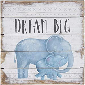 "Simply Said, INC Perfect Pallet Petites 8"" Wood Sign PET15788- Dream Big - Elephant Nursery Decor"