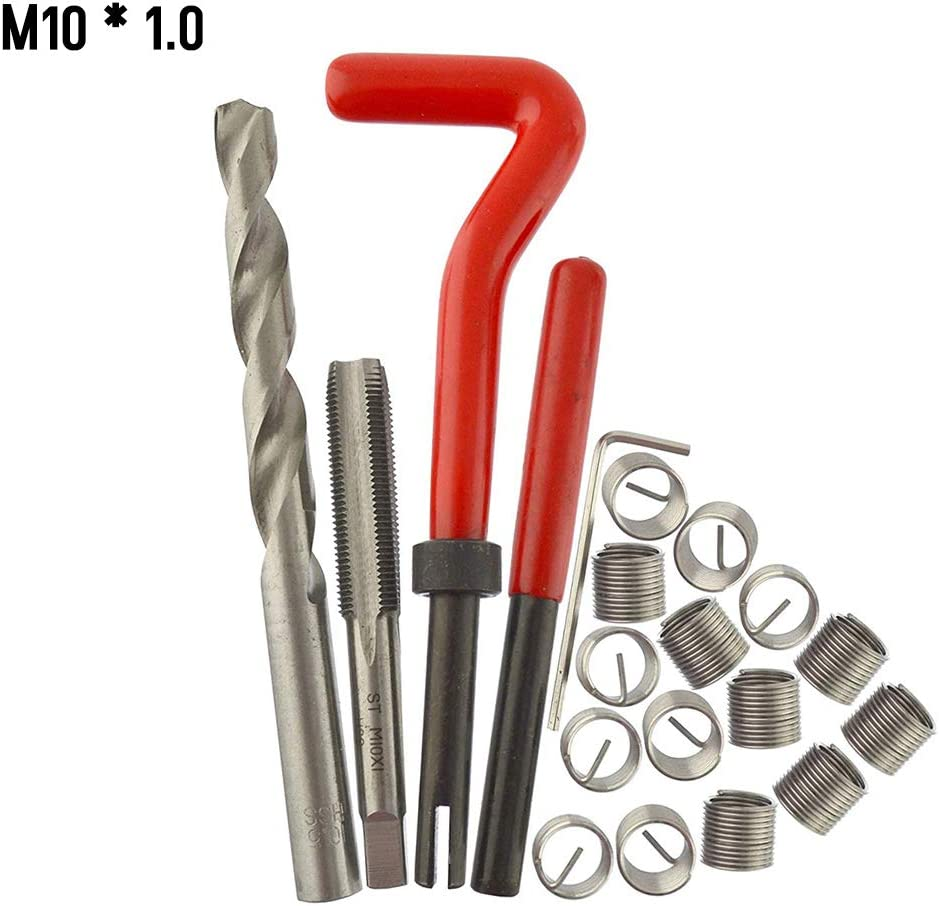 0.8 Tickas Metric Thread Repair Insert Kit,30Pcs Metric Thread Repair Insert Kit M5 M6 M8 M10 M12 M14 Helicoil Car Pro Coil Tool M5