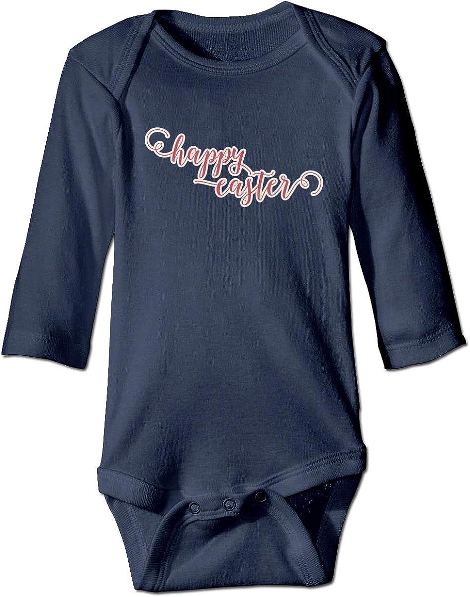 XTYND556 Happy Easter Newborn Long Sleeve Onesies Bodysuit for Baby Boys Baby Girls