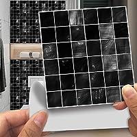 20st Zwart Wit Zelfklevende Cementtegels, Tegelstickers, Ambiance Sticker, MozaïEk, Wandtegels, Badkamer En Keuken