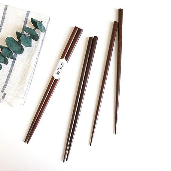 Amazon.com: HuaLan - Juego de palillos de madera natural ...