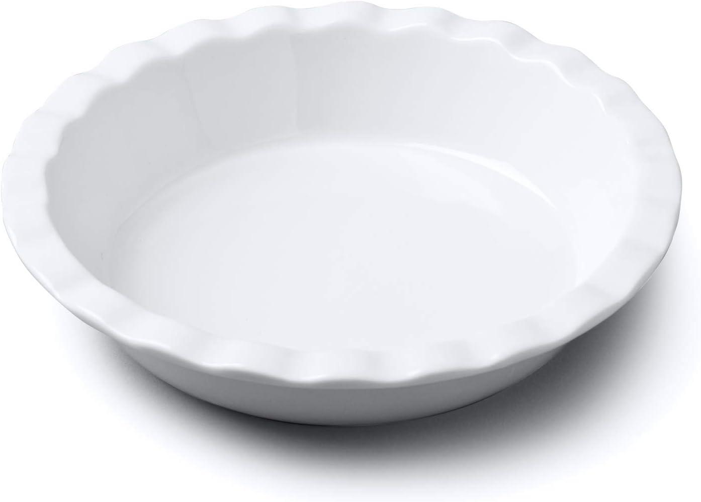 WM Bartleet & Sons 1750 Crinkle Rim Pie Dish, White