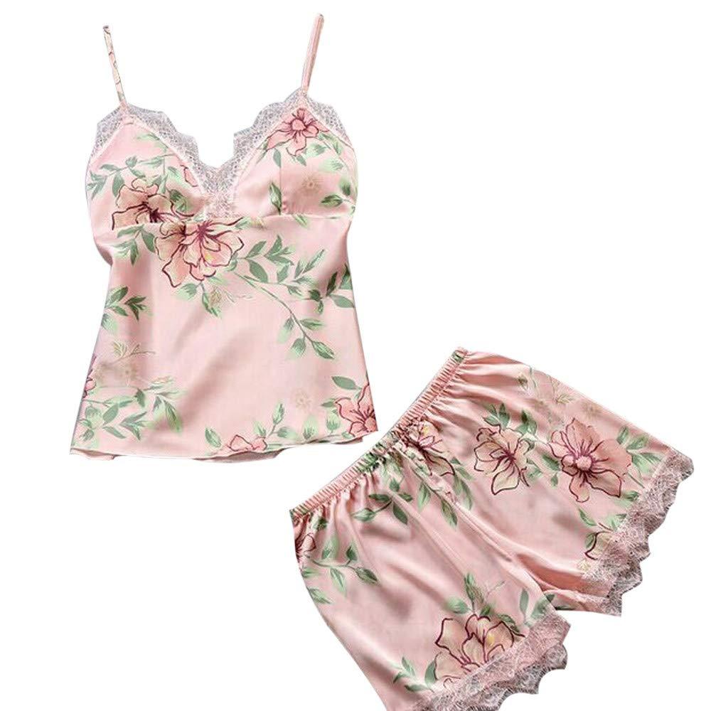 a8a47f209fe95 Women Sexy Babydoll Lingerie Lace Floral Print Cute Pajama Cami Shorts Set  Nightwear ...