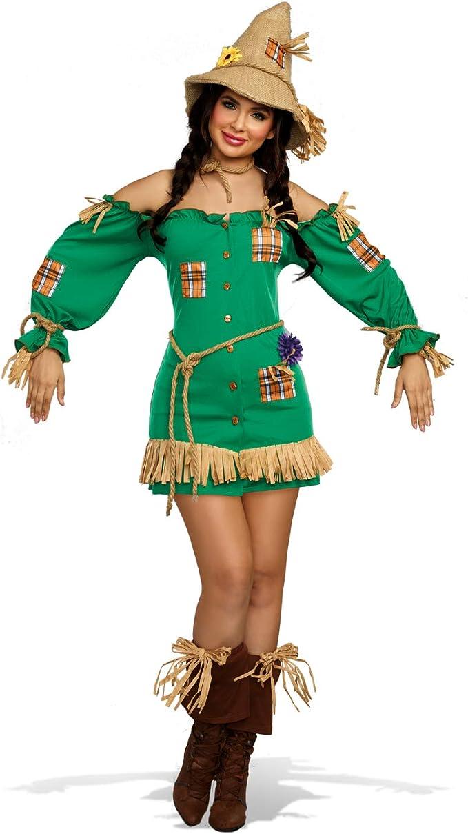 DreamGirl Disfraz de Mujer Espantapájaros Paja.Vestido de Figura ...