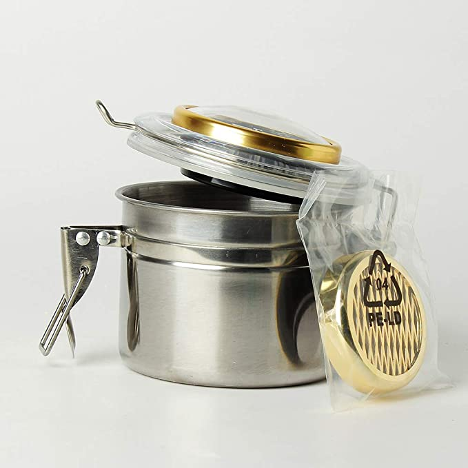 Pipe Tobacco Tin Can with Hygrometer /& Humidifier Gift
