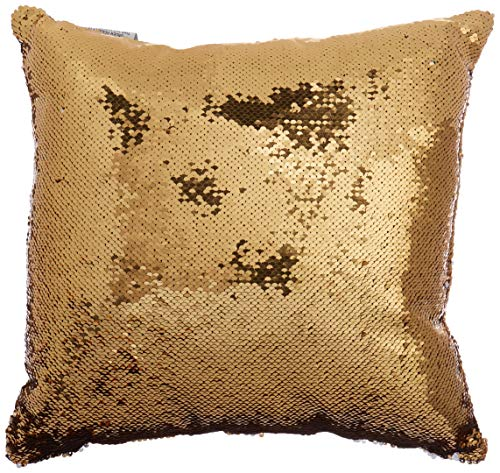 Pop Shop Mermaid Sequin Dec Pillow, Silver/Gold (Shop Pillows Throw)
