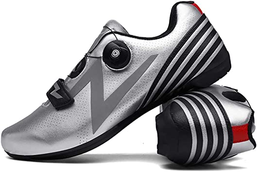 LY CROWM Zapatillas de Ciclismo de Carretera para Adultos ...