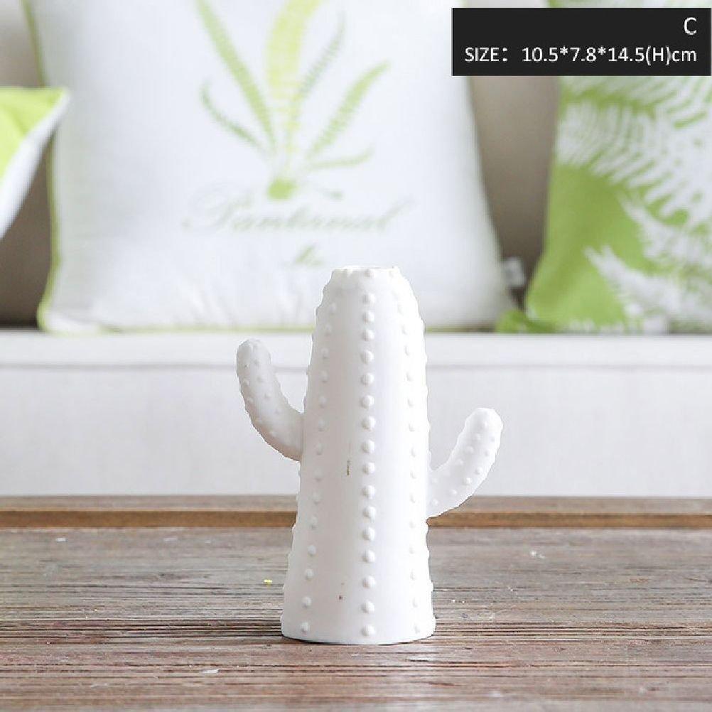 1 Piece Ceramic Cactus Lamp Christmas Decoration Accessories Small Lamp