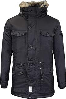 486595402 D-Struct Mens Winter Coat Vondel' Fur Hood Parka Warm Jacket Sizes S ...