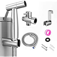 AquaDalus Handheld Toilet Bidet Sprayer, Stainless Steel Cloth Diaper Sprayer Kit with Hose for Baby Diaper Cloth Wash…