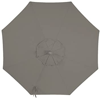 9ft 8 Ribs Market Umbrella Replacement Canopy (Sunbrella- Graphite)  sc 1 st  Amazon.com & Amazon.com : 9ft 8 Ribs Market Umbrella Replacement Canopy ...