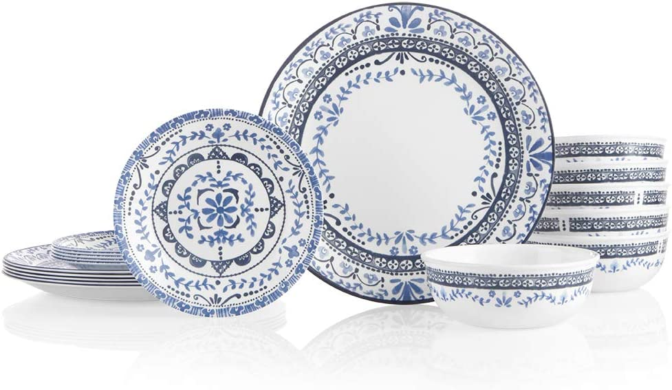 Corelle Vitrelle Glass 18-piece Dinnerware Set