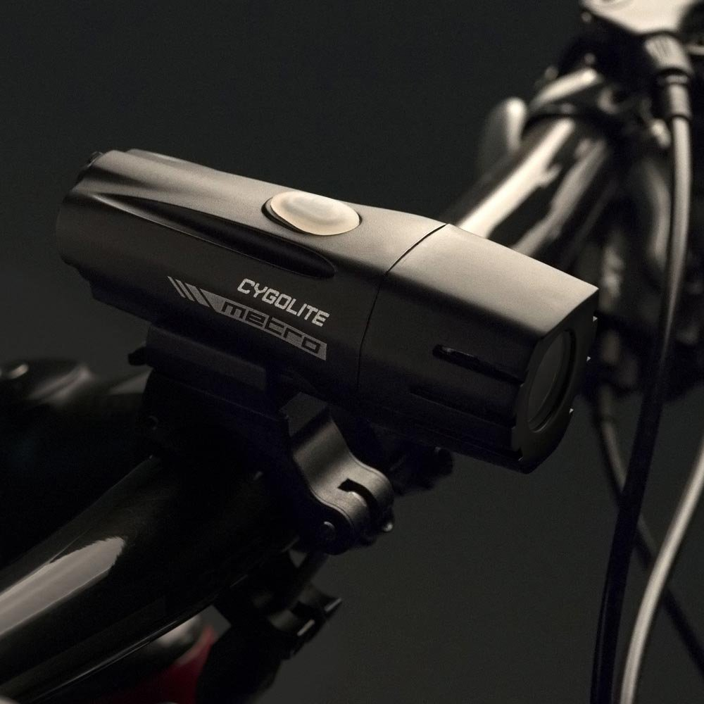 Cygolite Metro 400 USB Rechargeable Bike Light, Powerful 400 Lumen Bicycle Headlight for Road Cycling and Commuters, 6 Different Lighting Modes for Day and Night Safety by Cygolite (Image #2)