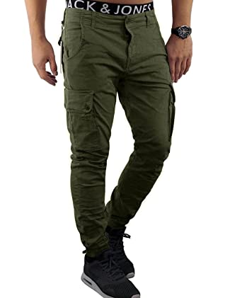 Jackamp; Night Cargo Hombre Jones Pantalón Para Olivolive Fit 5ARjL34q