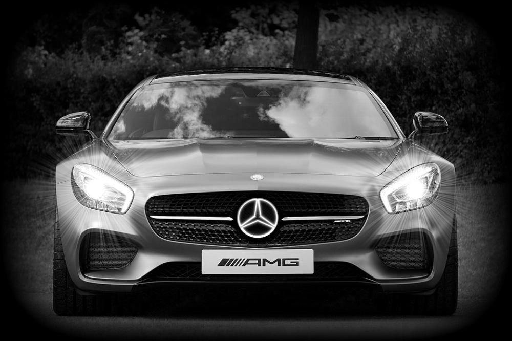LAMINATED 36x24 inches Poster: Mercedes-Benz Car Amg Gt Transport Mercedes Benz Auto Motor Automobile Automotive Limited Edition Luxury Modern Vehicle Design Technology Speed Fast Badge Style
