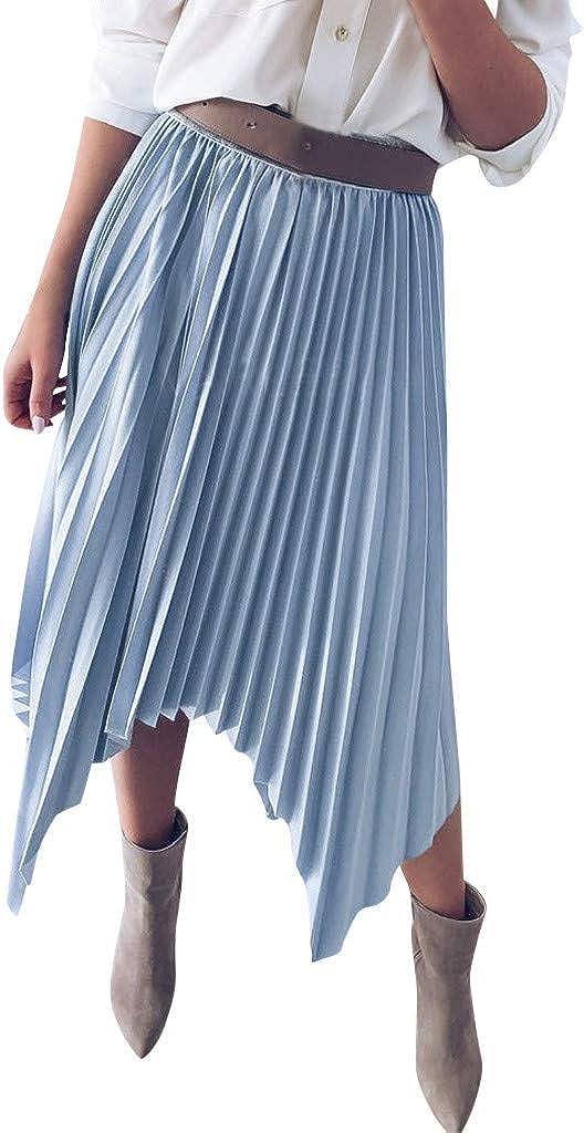 Sylar Faldas Plisadas Mini Corto Elástica Plisada Básica Falda ...