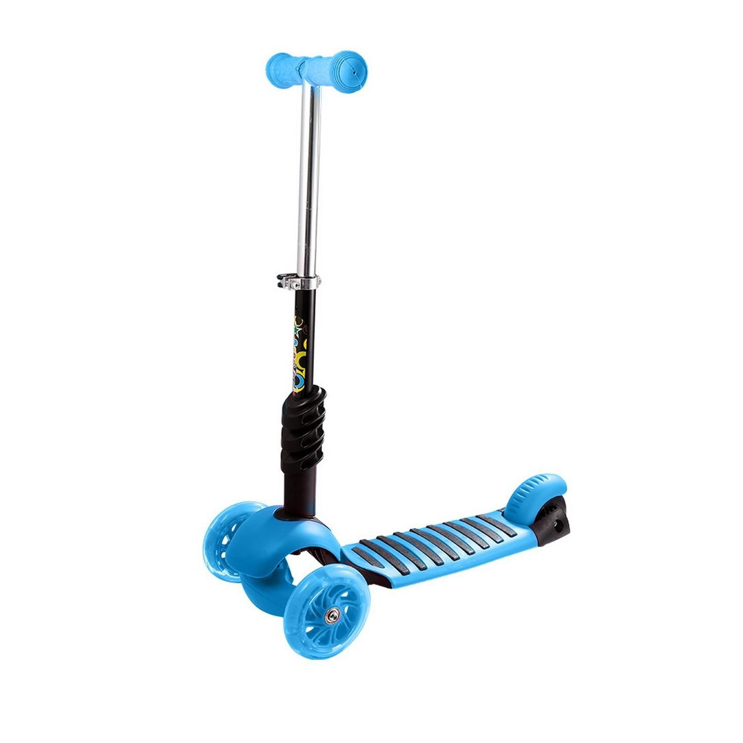 Amazon.com : Lantusi Child Kids Detachable Riding Toy, 3-Wheel Adjustable Height Kick Scooter with LED Light Up Wheels (Pink, Green and Blue) : Sports & ...