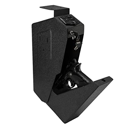 latest discount big sale new collection RPNB Mounted Firearm Safety Device with Auto Open Lid Biometric Fingerprint  Lock Handgun Security Safe Gun Safe