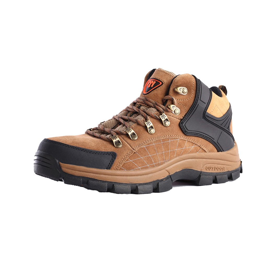 FLYGAGA Herren High-top Lace-up Wildleder Wasserdicht Atmungsaktiv Outdoor Stiefel Sport Trekking Trail Wandern Schuhe