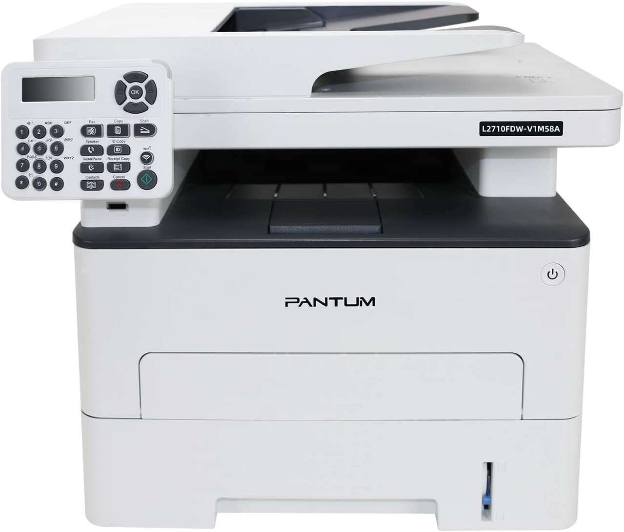 Pantum L2710FDW All-in-One Multifunction Monochrome Laser Printer Scanner Copier & Fax with Convenient Flatbed, Wireless Printing, Duplex Printing