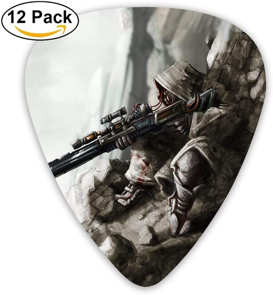 Sniper Gunner Custom Guitar Picks For Electric Acoustic Best Stuffer Gifts (12pack): Amazon.es: Instrumentos musicales