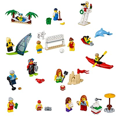 LEGO City Town People Pack – Fun at The Beach 60153 Building Kit (169 Piece): Toys & Games