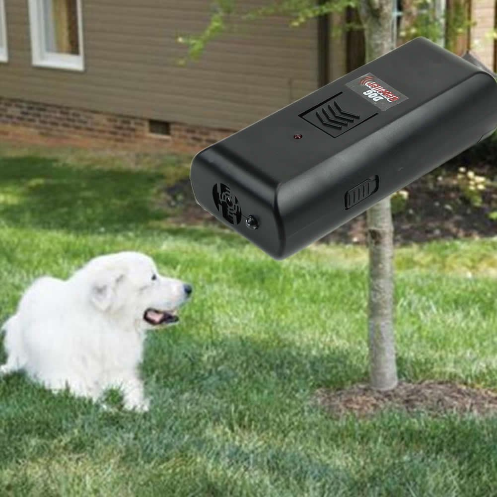 Dog Repeller,OHTOP Ultrasonic Stop Barking Dog Training Repeller Anti Bark Control Trainer Device(Black)