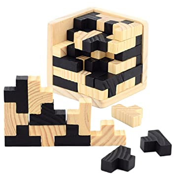 3D Madera Rompecabezas Para la Mente - Chickwin Juego de madera ...