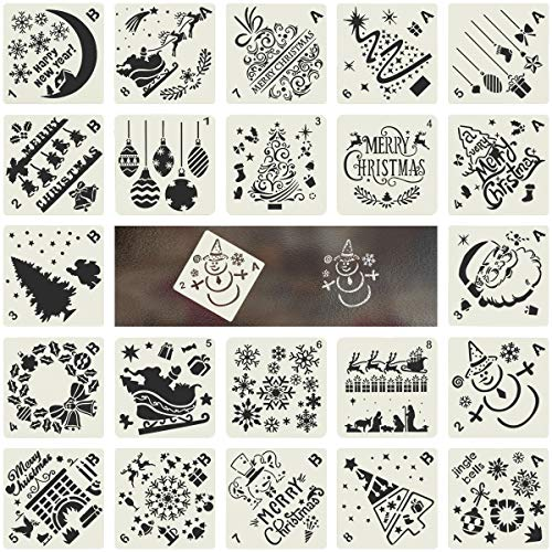 Biubee 16 Pcs Plastic Dotting Stencils- Different Patterns