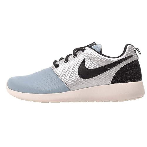Nike Mujeres Roshe One LX Bajos & Medios Cordon Zapatos para Correr, Metallic Silver/